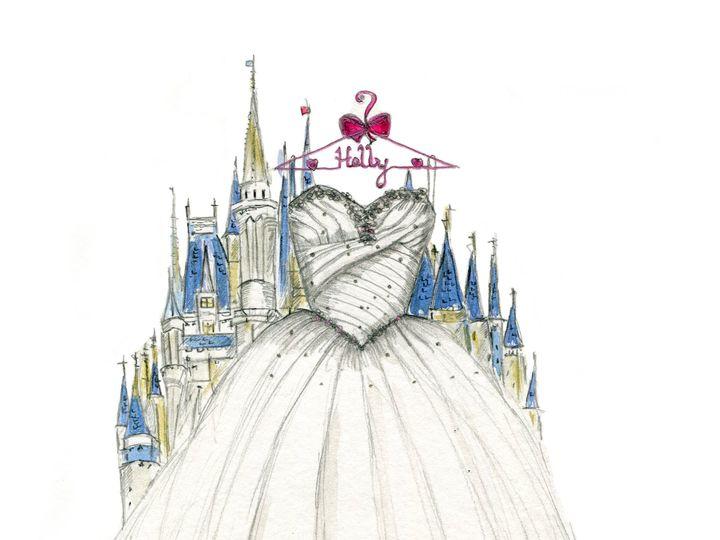 Tmx 1477425569858 Dreamlines Wedding Dress Sketch Wg 2185 O Fallon wedding favor