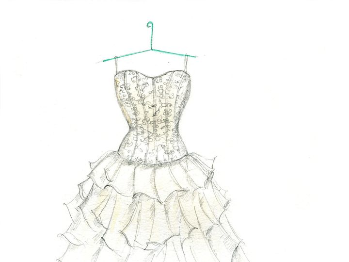Tmx 1477425597807 Dreamlines Wedding Dress Sketch Wg 2131 O Fallon wedding favor