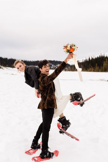 Elopement in the snow