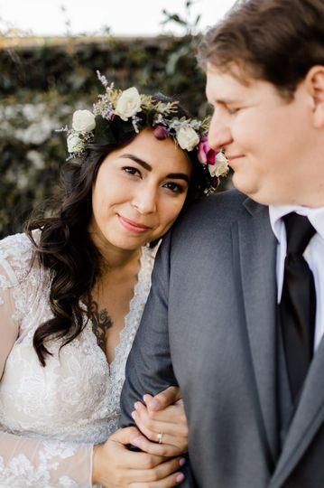 Sweet bridal flower crown