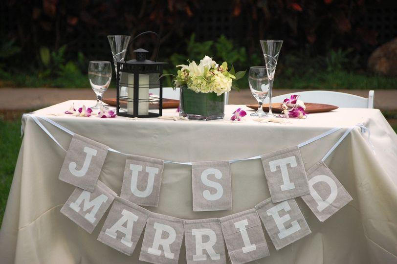 Main table setup