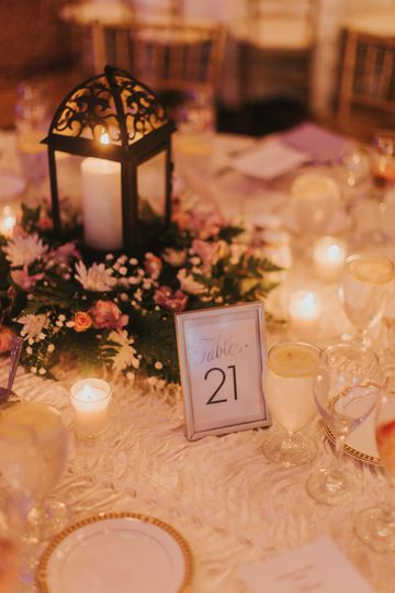 Lantern and table number