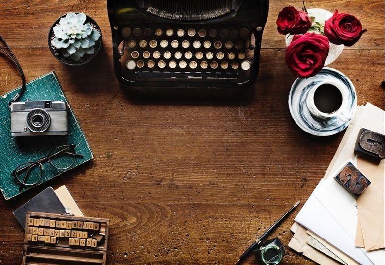 Typewriter and camera