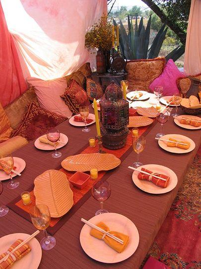 Boho tented wedding