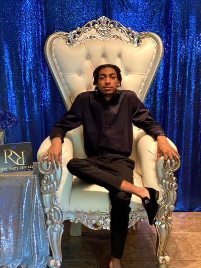 Silver and cream Throne