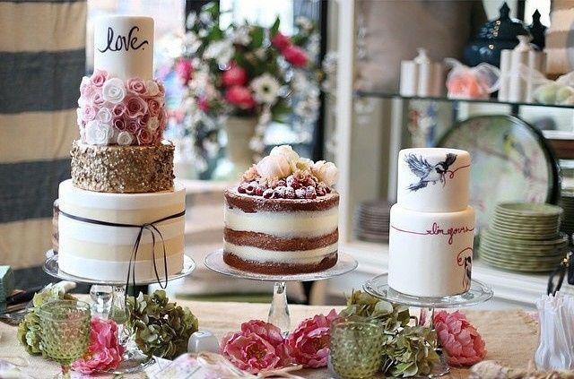 Tmx 1487180053641 Elles Belles Cake Display Bridal Walk 20151 640x42 Belgrade, Montana wedding cake