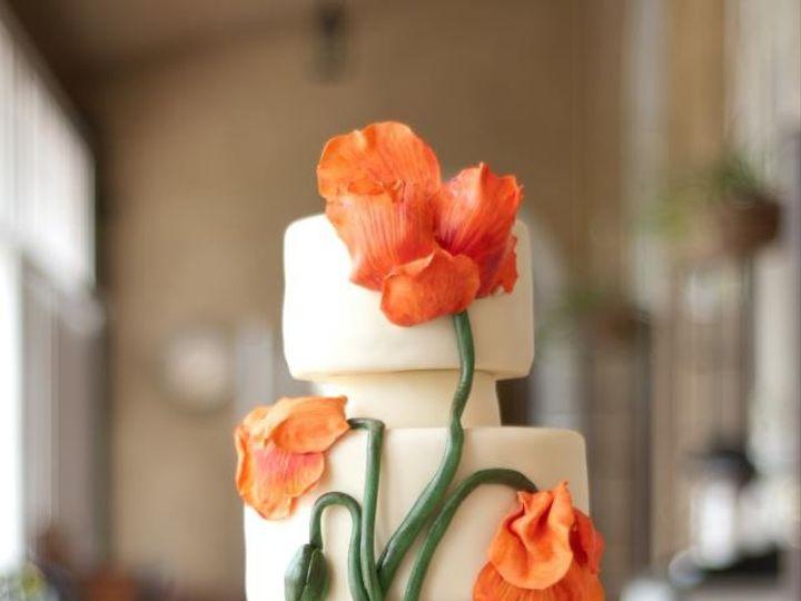 Tmx 1487180619542 Poppy Cake Orange Photographie Belgrade, Montana wedding cake