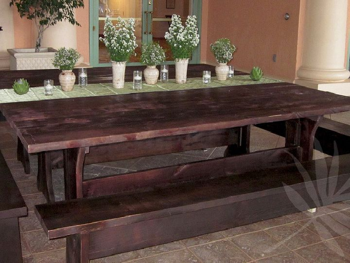 Tmx 1391193378584 Double Picnic Table With Benches Awsmal Tampa wedding florist