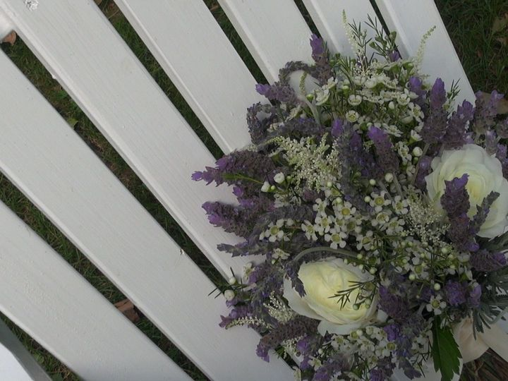 Tmx 1444611453776 Bouquet On Chair Lancaster, PA wedding videography