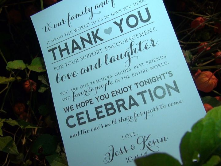 Tmx 1444611907435 Thank You Card Lancaster, PA wedding videography