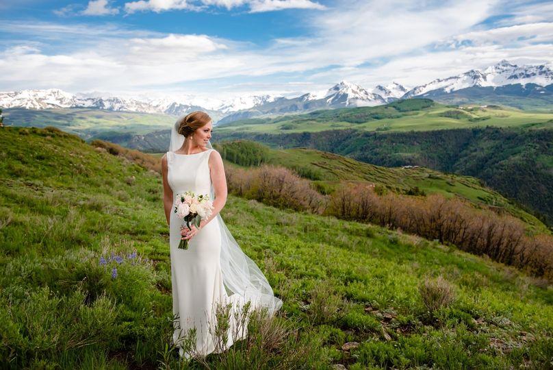 Mountaintop bride