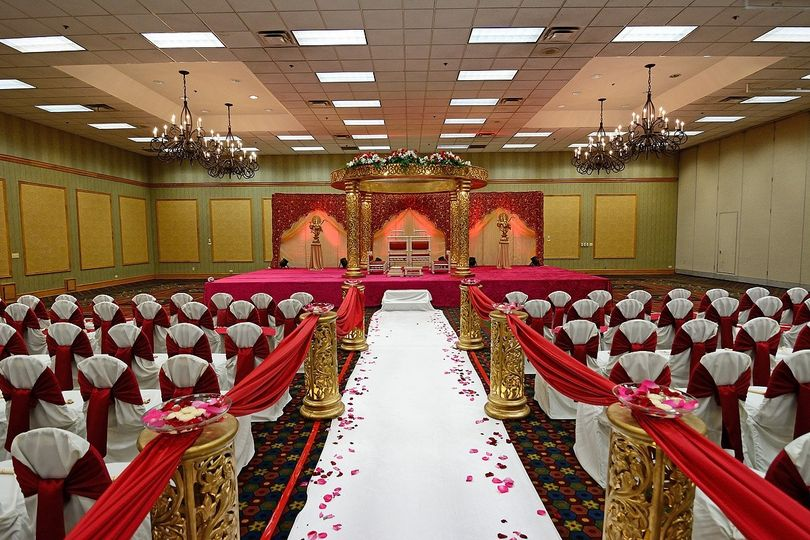 A grand wedding ceremony in St Charles Ballroom