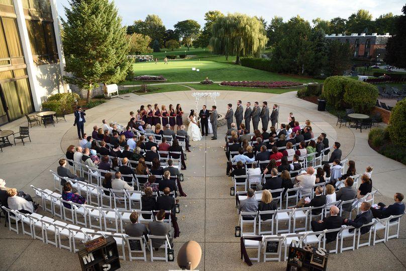 Terrace Patio wedding ceremony