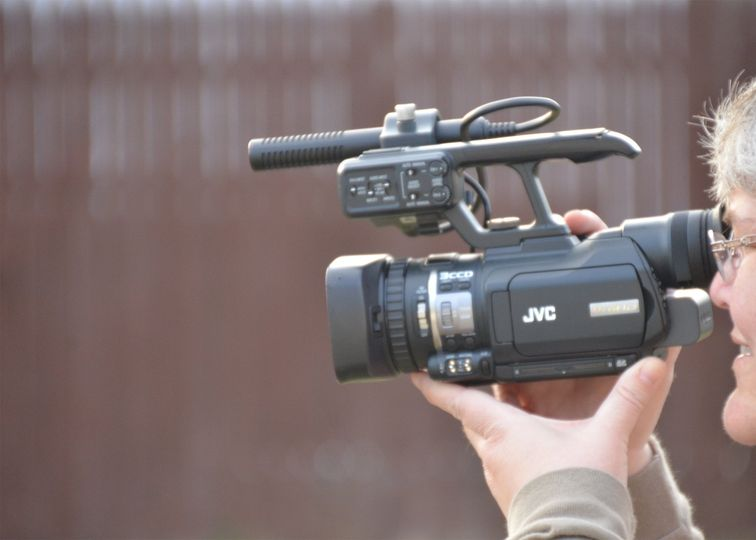 Filming with JVC Camera