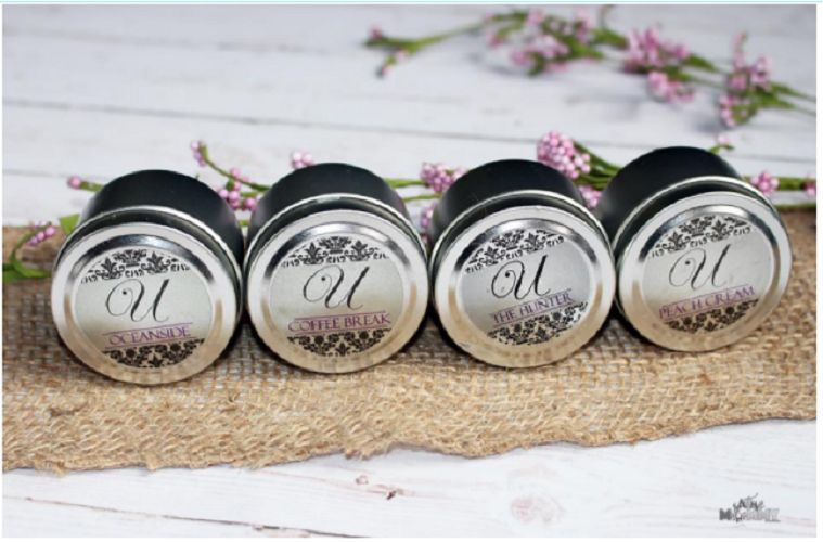 Candle tins with lid