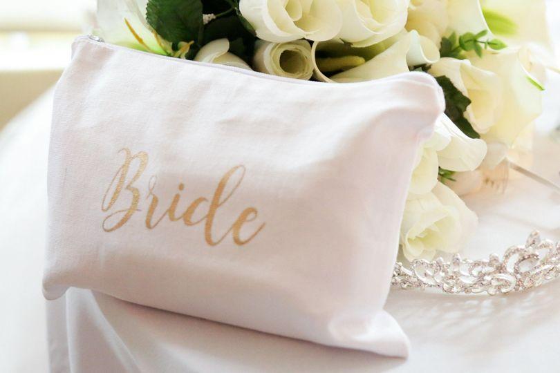 Bride's make-up bag