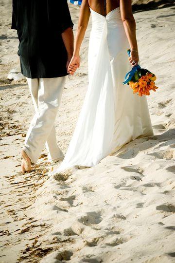 Beachside wedding in Isla Mujeres, Mexico.