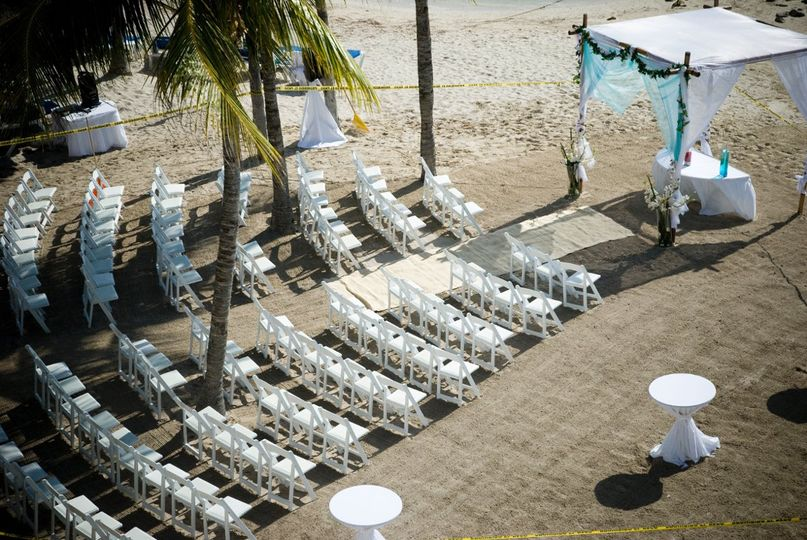 Beautiful backdrop for your ceremony & guests. Palace Resorts, Isla Muejeres, Mexico
