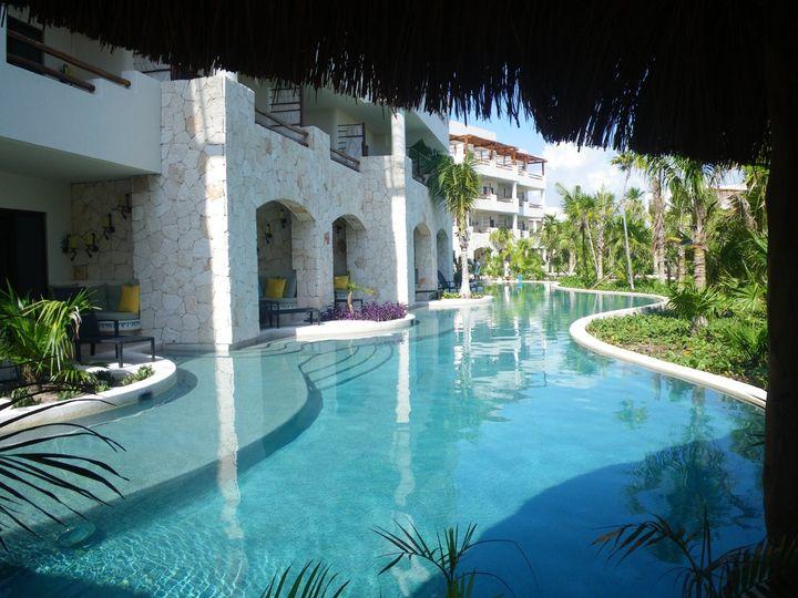 Swim-up Suite at Secrets Maroma, Mexico.
