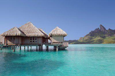 Bora Bora in the Tahitian Islands. St. Regis Resort