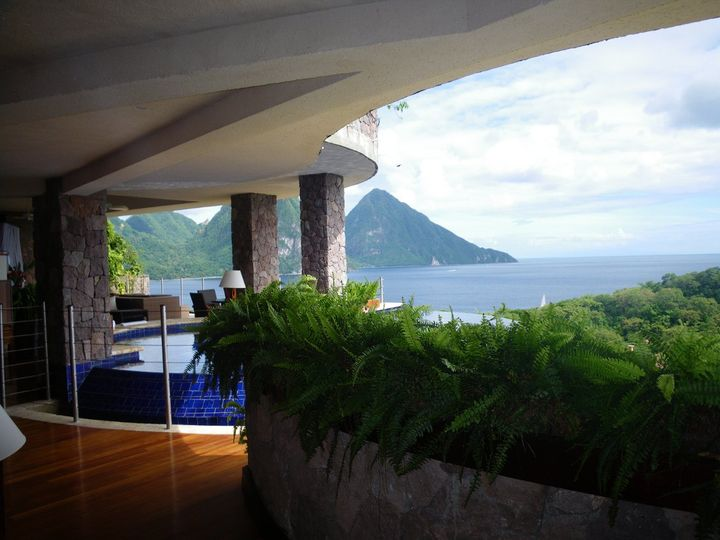 Jade Mountain, St. Lucia with a view.