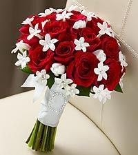 red rose white tulip stephanotis