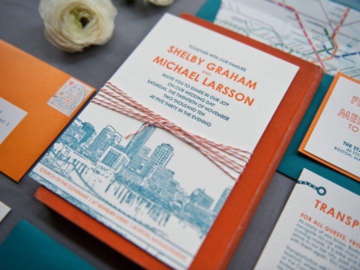 Tmx 1393546849529 Gusruby Bostoninvitatio Portsmouth, New Hampshire wedding invitation
