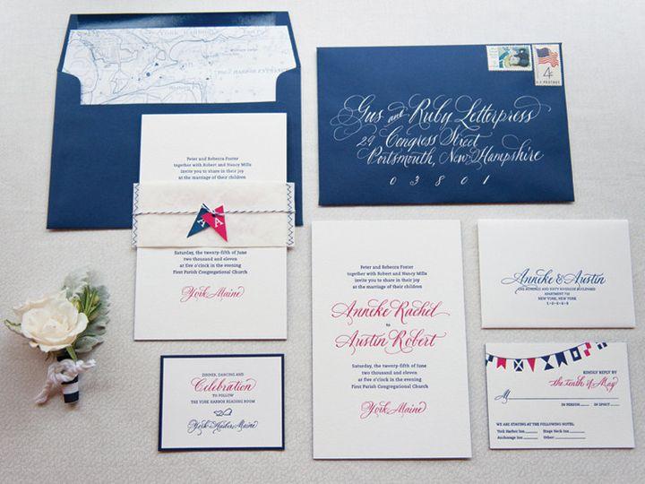 Tmx 1393546856836 Gusruby Nautical Invitationsuit Portsmouth, New Hampshire wedding invitation
