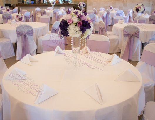 White table and Chair covers