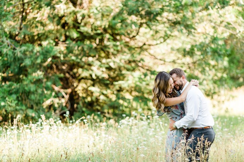 Mountain meadow engagement