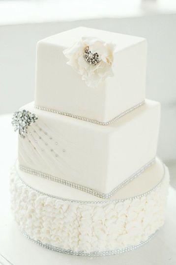 Squared wedding cake