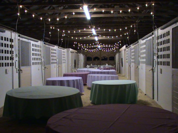 Barn with table set-up
