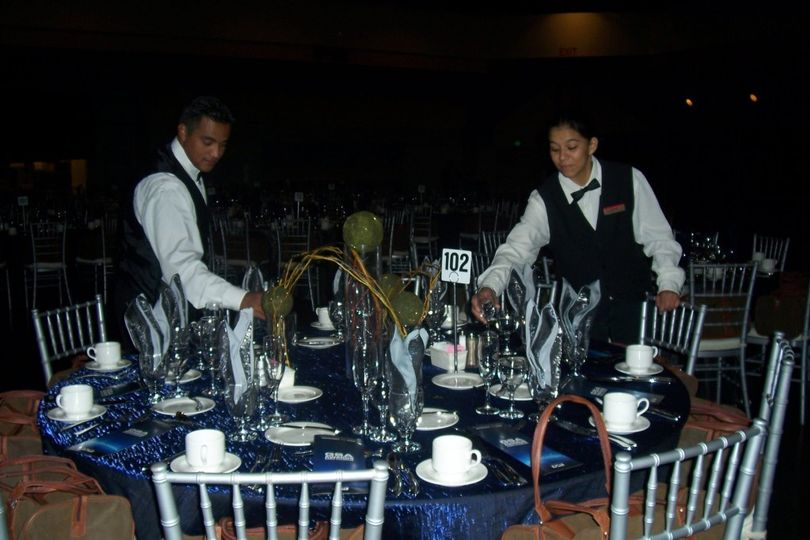 Preparation of the table setup