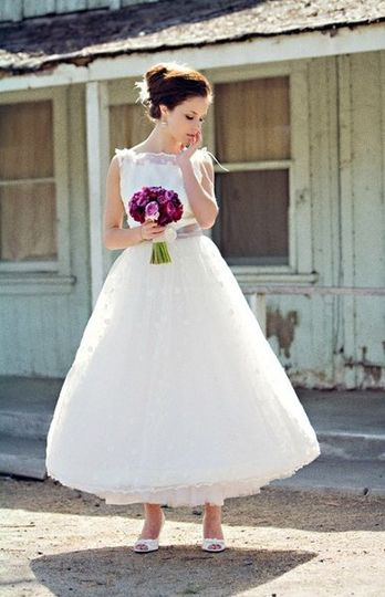 Embroidered organza ball gown style dress Stephanie Williams Photography