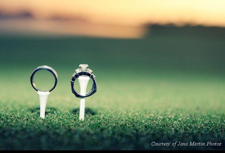 wedding rings on tees