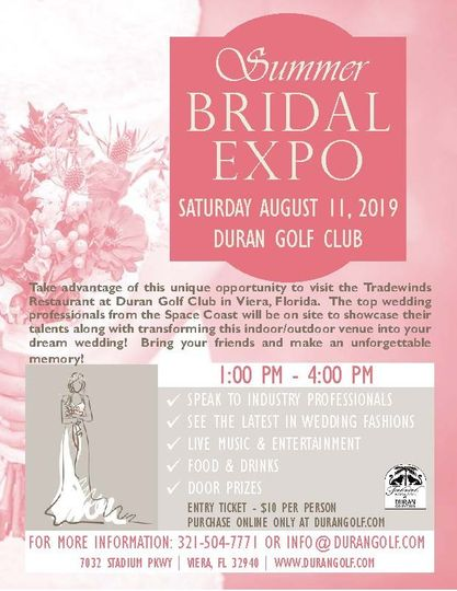 Summer Bridal Expo 8/11/19