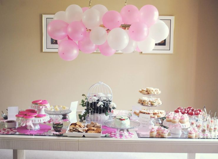 Bridal shower buffet area