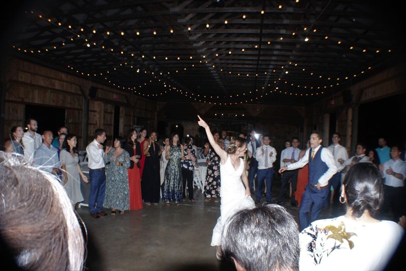 The bride has some moves