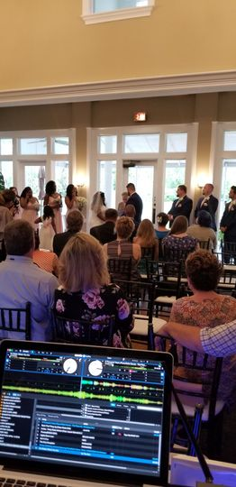 Kaylan & Joshua Brown wedding ceremony April 22, 2018 DeerCreek Country Club
