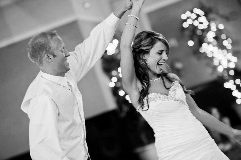 The bride and groom in bliss
