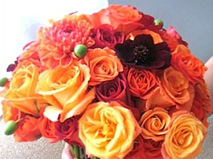 Tmx 1346952542005 OrangeBouquet.54135739 Rye wedding florist