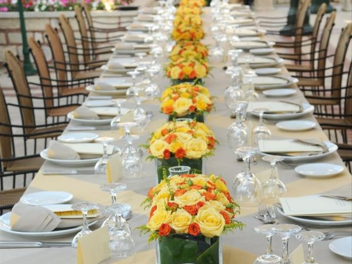 Tmx 1346952545159 Yellowandorangelongtable.3111523std Rye wedding florist