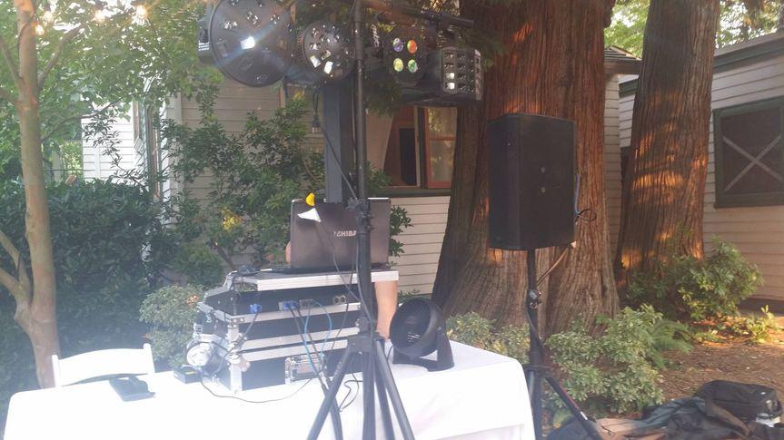 DJ's mixer table