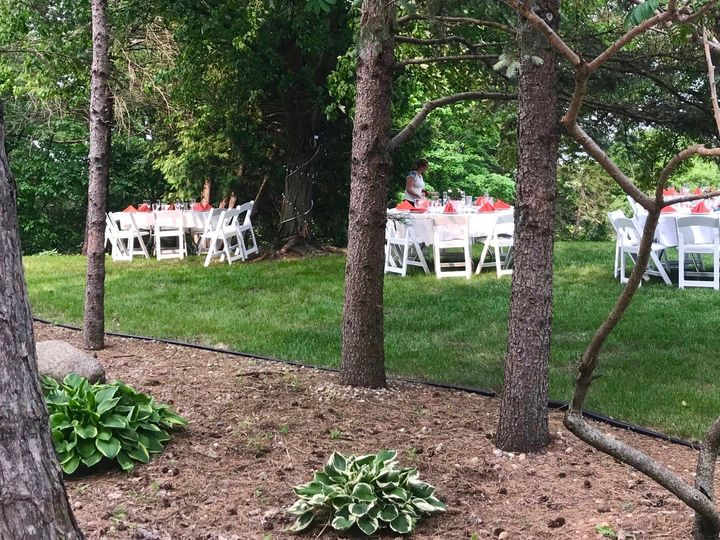 Tmx Loyas Jeff Rebecca Tables In Yard 51 1971477 159113862676841 Ames, IA wedding venue