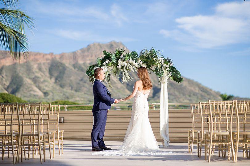 Wedding at Deck. Waikiki