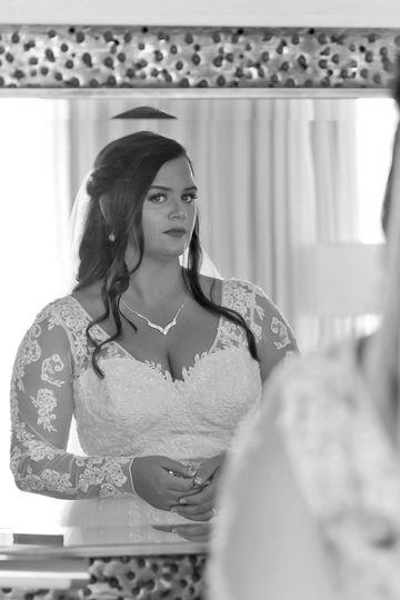 Bride Getting Ready-Mirror