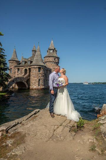 Bride and Groom Boldt Castle