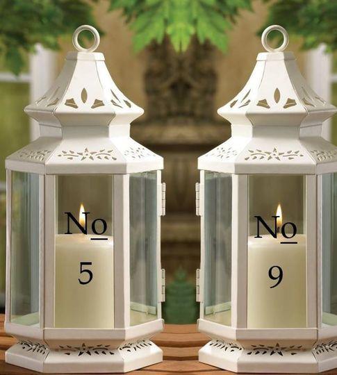 Wedding Table Numbers 1-12 Vinyl Sticker Decals / Table Numbers...