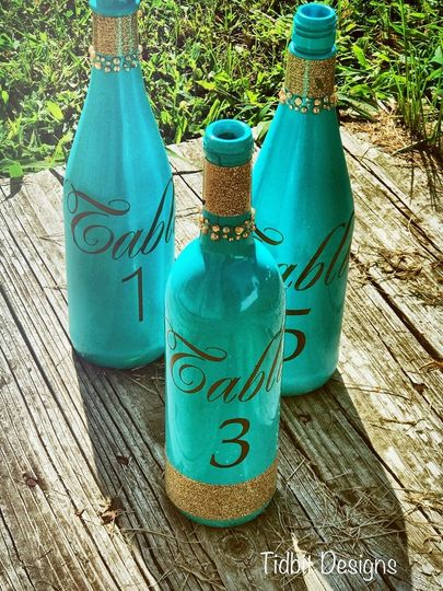 Wine Bottle Wedding Centerpiece Table Number / Decor...