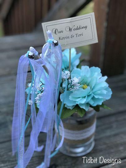 Ribbon Bell Wands Wedding Favors / Ceremony Send Off ~ Kissing Bells...